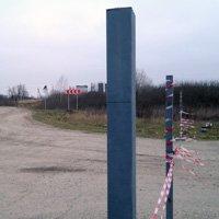 Оцинкованные заборные столбы